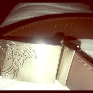 men's authentic Versace Collection leather belt